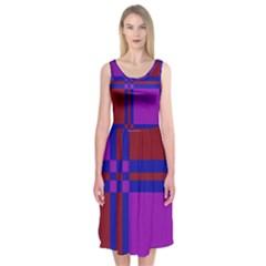 Deorative design Midi Sleeveless Dress