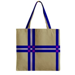 Elegant lines Zipper Grocery Tote Bag