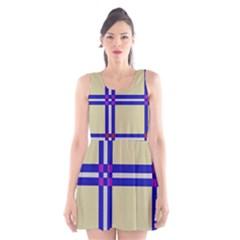 Elegant lines Scoop Neck Skater Dress