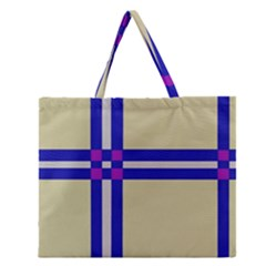 Elegant lines Zipper Large Tote Bag