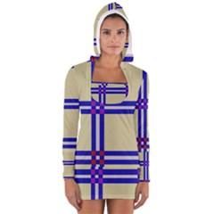 Elegant lines Women s Long Sleeve Hooded T-shirt