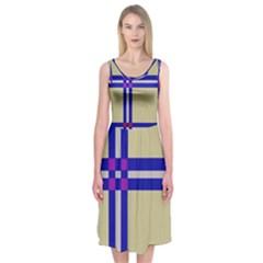 Elegant lines Midi Sleeveless Dress
