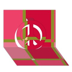 Red and green Peace Sign 3D Greeting Card (7x5)