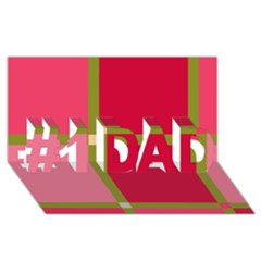 Red and green #1 DAD 3D Greeting Card (8x4)