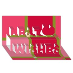 Red and green Best Wish 3D Greeting Card (8x4)