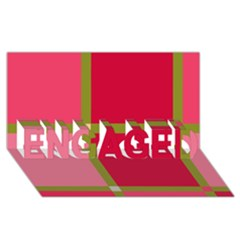 Red And Green Engaged 3d Greeting Card (8x4)