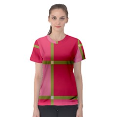 Red and green Women s Sport Mesh Tee