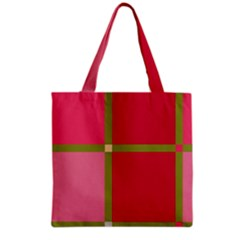 Red and green Grocery Tote Bag