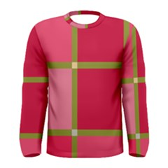 Red and green Men s Long Sleeve Tee
