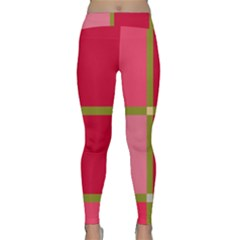 Red and green Yoga Leggings
