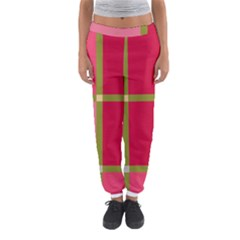 Red and green Women s Jogger Sweatpants