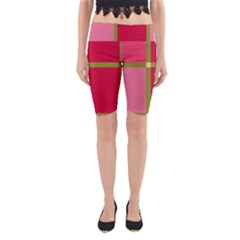 Red and green Yoga Cropped Leggings