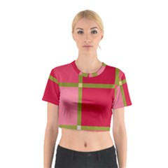 Red and green Cotton Crop Top