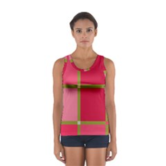 Red and green Women s Sport Tank Top