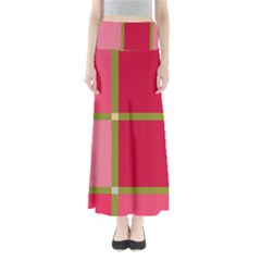 Red and green Maxi Skirts