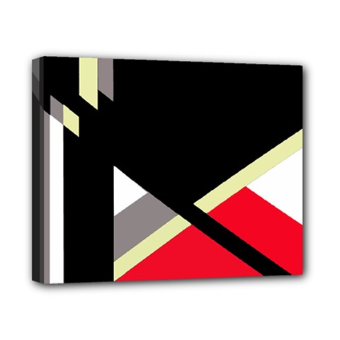 Red and black abstraction Canvas 10  x 8