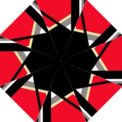 Red and black abstraction Folding Umbrellas