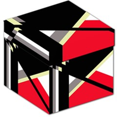 Red and black abstraction Storage Stool 12