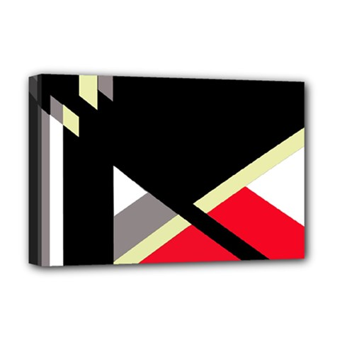 Red and black abstraction Deluxe Canvas 18  x 12