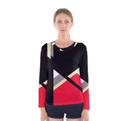 Red and black abstraction Women s Long Sleeve Tee
