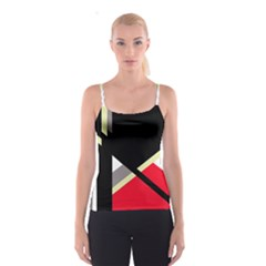 Red and black abstraction Spaghetti Strap Top