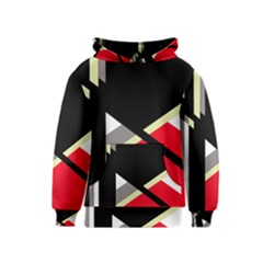 Red and black abstraction Kids  Pullover Hoodie