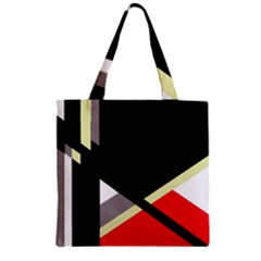 Red and black abstraction Zipper Grocery Tote Bag
