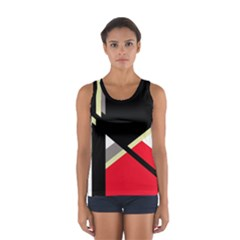 Red and black abstraction Women s Sport Tank Top