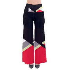 Red and black abstraction Pants