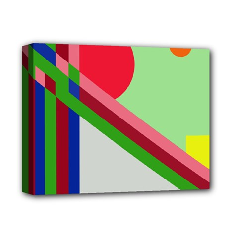 Decorative abstraction Deluxe Canvas 14  x 11