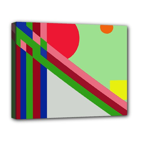 Decorative abstraction Deluxe Canvas 20  x 16