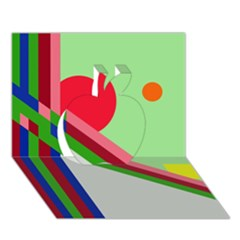 Decorative abstraction Apple 3D Greeting Card (7x5)