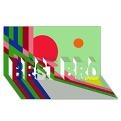 Decorative abstraction BEST BRO 3D Greeting Card (8x4)
