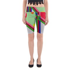Decorative abstraction Yoga Cropped Leggings
