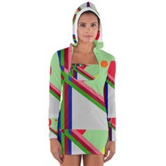 Decorative abstraction Women s Long Sleeve Hooded T-shirt