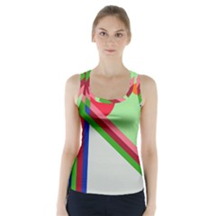 Decorative abstraction Racer Back Sports Top
