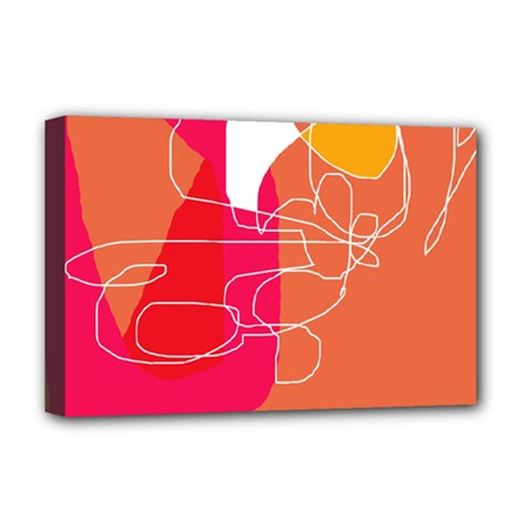 Orange abstraction Deluxe Canvas 18  x 12