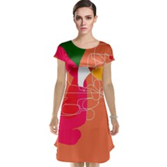 Orange abstraction Cap Sleeve Nightdress