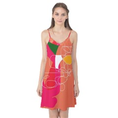 Orange abstraction Camis Nightgown