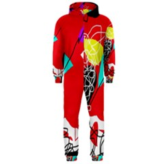 Colorful abstraction Hooded Jumpsuit (Men)
