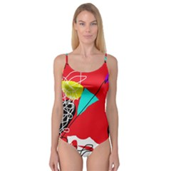 Colorful abstraction Camisole Leotard