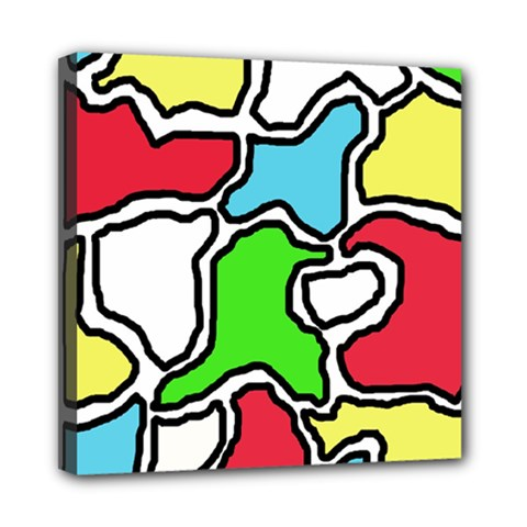 Colorful abtraction Mini Canvas 8  x 8