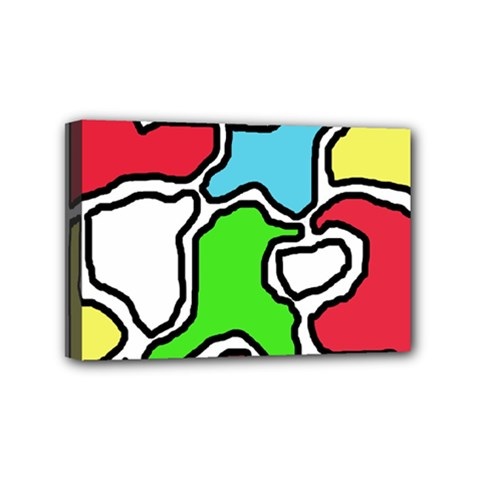Colorful abtraction Mini Canvas 6  x 4
