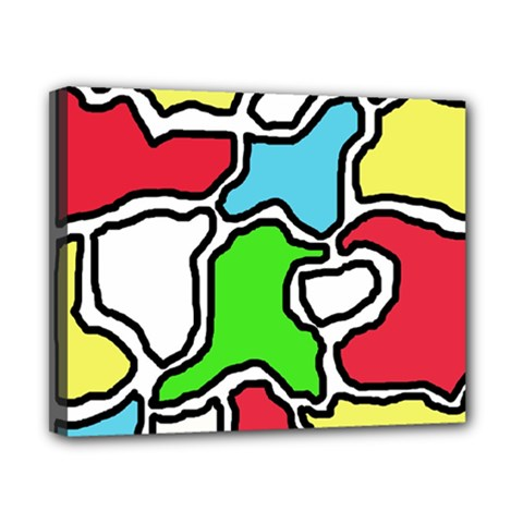 Colorful abtraction Canvas 10  x 8