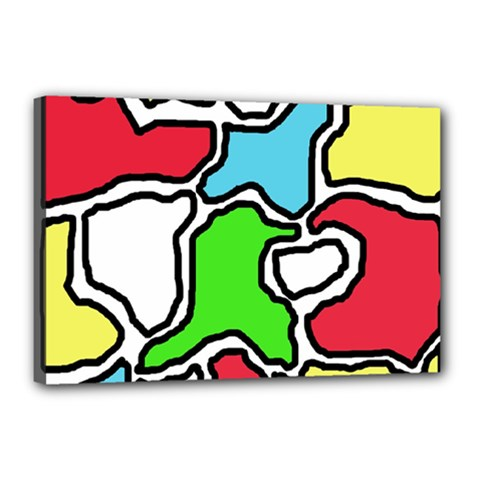 Colorful abtraction Canvas 18  x 12