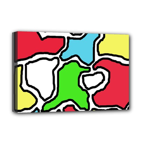 Colorful abtraction Deluxe Canvas 18  x 12
