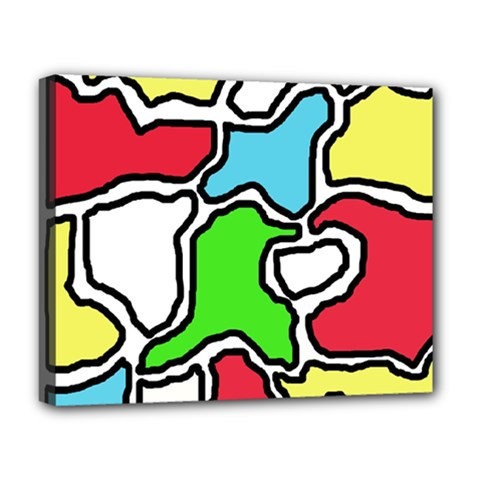 Colorful abtraction Deluxe Canvas 20  x 16