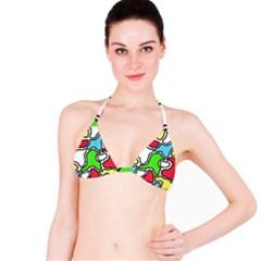 Colorful abtraction Bikini Top