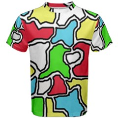Colorful abtraction Men s Cotton Tee