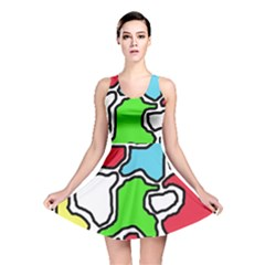 Colorful abtraction Reversible Skater Dress